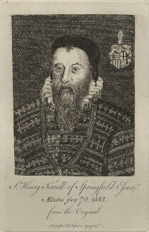 Sir Henry Tyrell, by Elizabeth Bridgetta Gulston (née Stepney) - NPG D25447