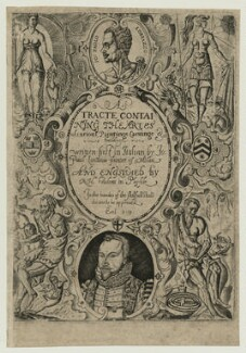 Richard Haydock, title to his translation of Lomazzo's Artes of Curious Paintinge, Carvinge & Buildinge, 1598, possibly by Richard Haydock - NPG D25462