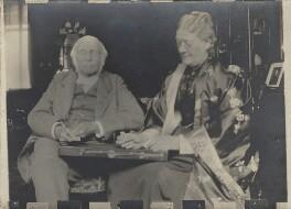 Sir Richard Strachey; Jane Maria (née Grant), Lady Strachey, by Unknown photographer - NPG x13064