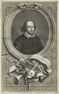 William Shakespeare, by Jacobus Houbraken - NPG D25480