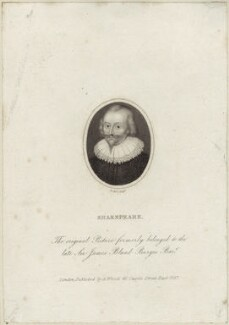 William Shakespeare, by Benjamin Holl, published by  Abraham Wivell, after  Laurence Hilliard - NPG D25481
