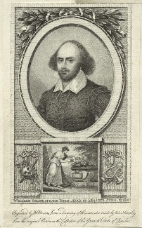 William Shakespeare, possibly by Henry Brocas the Elder - NPG D25486