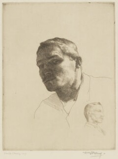 William Strang; Ernest Sichel, by William Strang, printed by  David Strang, 1883 - NPG D31915 - © National Portrait Gallery, London