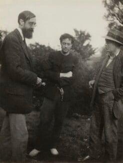 Lytton Strachey; Duncan Grant; (Arthur) Clive Bell, by Vanessa Bell - NPG x26568