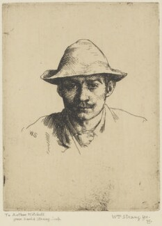 William Strang, by William Strang, printed by  David Strang - NPG D31916