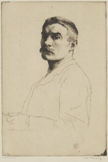 William Strang, by William Strang, printed by  David Strang - NPG D31917