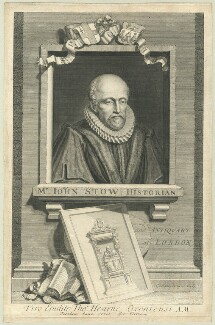 John Stow, by George Vertue - NPG D25536