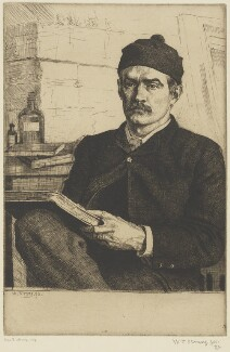 William Strang, by William Strang, printed by  David Strang - NPG D31918