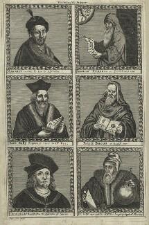 Mohammed, Appoloneus Tyaneus, Sir Edward Kelley, Roger Bacon, Paracelsus, John Dee, after Francis Cleyn (Franz Klein) - NPG D25548