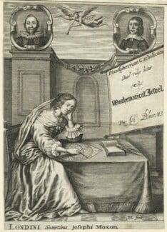 John Blagrave in the title page to 'Planispherium Catholicum, quod vulgo dicitur The Mathematical Jewel', published by Joseph Moxon - NPG D25558