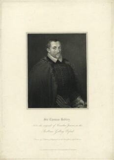 Sir Thomas Bodley, by Edward Scriven, published by  Lackington, Allen & Co, published by  Longman, Hurst, Rees, Orme & Brown, after  Thomas Uwins, after  Cornelius Johnson (Cornelius Janssen van Ceulen) - NPG D31927