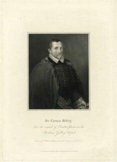 Sir Thomas Bodley, by Edward Scriven, published by  Lackington, Allen & Co, published by  Longman, Hurst, Rees, Orme & Brown, after  Thomas Uwins, after  Cornelius Johnson (Cornelius Janssen van Ceulen) - NPG D31928