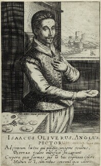 Isaac OIiver, by Robert de Baudous, published by  Hendrik Hondius (Hond) - NPG D25560