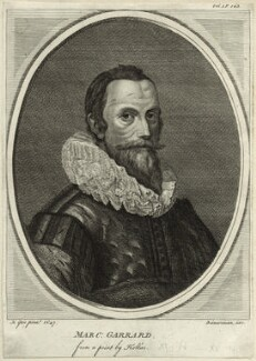 Marcus Gheeraerts the Younger, by Alexander Bannerman, after  Wenceslaus Hollar, after  Marcus Gheeraerts the Younger - NPG D25566