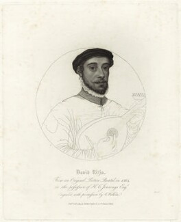 David Riccio (Rizzio), by Charles Wilkin, published by  Robert Triphook - NPG D25583