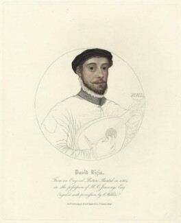 David Riccio (Rizzio), by Charles Wilkin, published by  Robert Triphook - NPG D25584