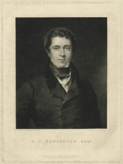 Richard Parkes Bonington, by John P. Quilley, published by  James Carpenter, published by  Colnaghi, Son & Co, after  Margaret Sarah Carpenter - NPG D31945