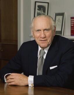 Sidney Lewis Bernstein, 1st Baron Bernstein of Leigh, by Bern Schwartz - NPG P1143