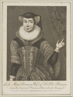 Mary Ramsey (née Dale), Lady Ramsey, possibly by Thomas Trotter, published by  William Richardson - NPG D25594