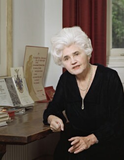 Jennie Lee, by Bernard Lee ('Bern') Schwartz, 13 June 1977 - NPG P1197 - © National Portrait Gallery, London