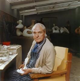 Henry Moore, by Bern Schwartz - NPG P1212