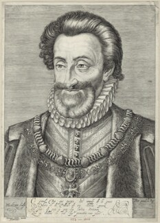 Henri IV, King of France, by Hendrick Goltzius, published by  Herman Adolfsz. - NPG D25624