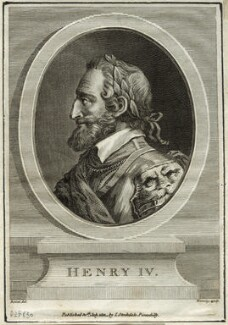 Henri IV, King of France, by William Bromley, after  Boizet - NPG D25630