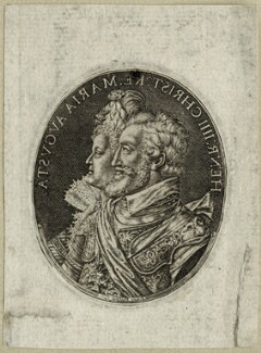 Henri IV, King of France and Marie de Medici of France, by Simon de Passe - NPG D25633