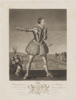 Henry, Prince of Wales, by Robert Dunkarton, published by  Samuel Woodburn, after  Simon de Passe - NPG D31903