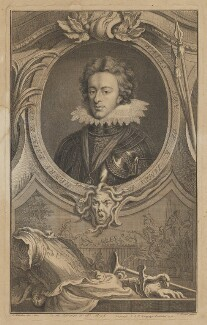 Henry, Prince of Wales, by Jacobus Houbraken, published by  John & Paul Knapton, after  Isaac Oliver - NPG D31905