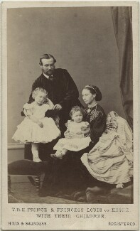 The Duke and Duchess of Hesse and by Rhine with their two eldest daughters, by Hills & Saunders - NPG x34505