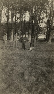 Ralph Partridge; James Beaumont Strachey; Saxon Arnold Sydney-Turner; Alix Strachey, by Unknown photographer - NPG x24025