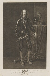 King Charles I, by Pieter Stevens van Gunst, published by  John Boydell, and published by  Josiah Boydell, after  Sir Anthony van Dyck - NPG D31961
