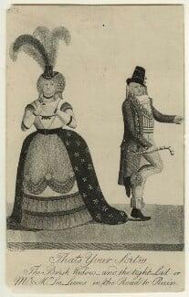 Charles Lee Lewes; Catherine Maria O'Neal, by John Kay - NPG D31983