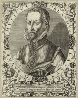 Orlande de Lassus (Orlandus Lassus, Orlando di Lasso, Roland de Lassus), possibly by Robert Boissard - NPG D25676