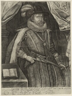 King James I of England and VI of Scotland, printed and published by Peter Stent - NPG D25678