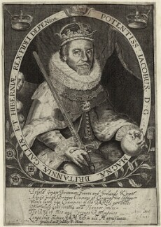 King James I of England and VI of Scotland, printed and published by Peter Stent - NPG D25681