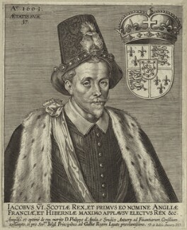 King James I of England and VI of Scotland, by Pieter de Jode I, early to mid 17th century - NPG D25684 - © National Portrait Gallery, London