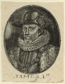 King James I of England and VI of Scotland, by Simon de Passe - NPG D25699