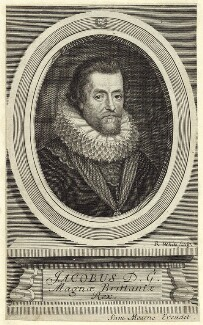 King James I of England and VI of Scotland, by Robert White - NPG D25702