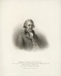Matthew Boulton, by Anthony Cardon, published by  T. Cadell & W. Davies, after  William Evans, after  Sir William Beechey - NPG D32007