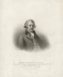 Matthew Boulton, by Anthony Cardon, published by  T. Cadell & W. Davies, after  William Evans, after  Sir William Beechey - NPG D32008