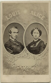 Louis IV, Grand Duke of Hesse and by Rhine; Princess Alice, Grand Duchess of Hesse, by Unknown photographer, 1860s - NPG x32963 - © National Portrait Gallery, London