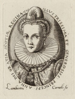 Anne of Denmark, by Lambert Cornelis, 1595 - NPG D25724 - © National Portrait Gallery, London
