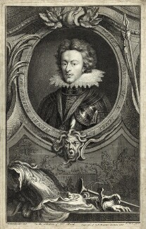 Henry, Prince of Wales, by Jacobus Houbraken, after  Isaac Oliver - NPG D25732