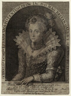 Princess Elizabeth, Queen of Bohemia and Electress Palatine, by Crispijn de Passe the Elder - NPG D25748