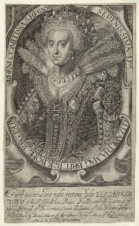 Princess Elizabeth, Queen of Bohemia and Electress Palatine, printed and published by Peter Stent - NPG D25749