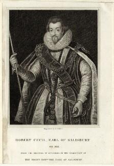 Robert Cecil, 1st Earl of Salisbury, by Joseph John Jenkins, after  Federico Zuccaro - NPG D25758