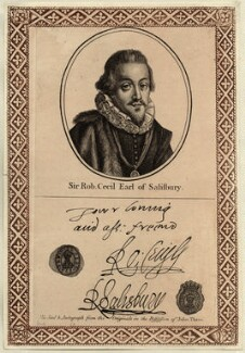 Robert Cecil, 1st Earl of Salisbury, printed and published by John Thane - NPG D25760