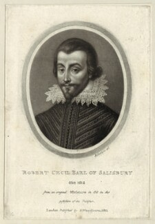 Unknown man engraved as Robert Cecil, 1st Earl of Salisbury, by Richard Earlom, published by  Samuel Woodburn - NPG D25761